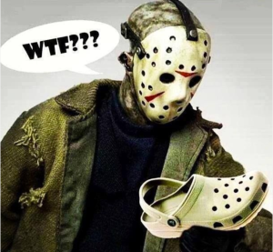 Halloween 2013 - Fred looks at Croc